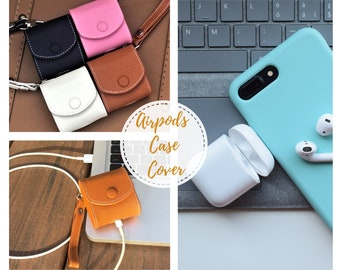 new arrival bf077 08ac5 Leather Personalized AirPod Case Monogram Airpods Case | Etsy