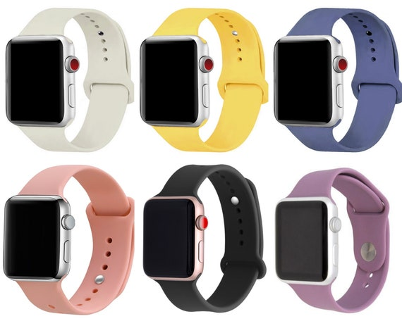 Silicone Apple Watch Strap 42mm Men Silicone Sports band   Etsy