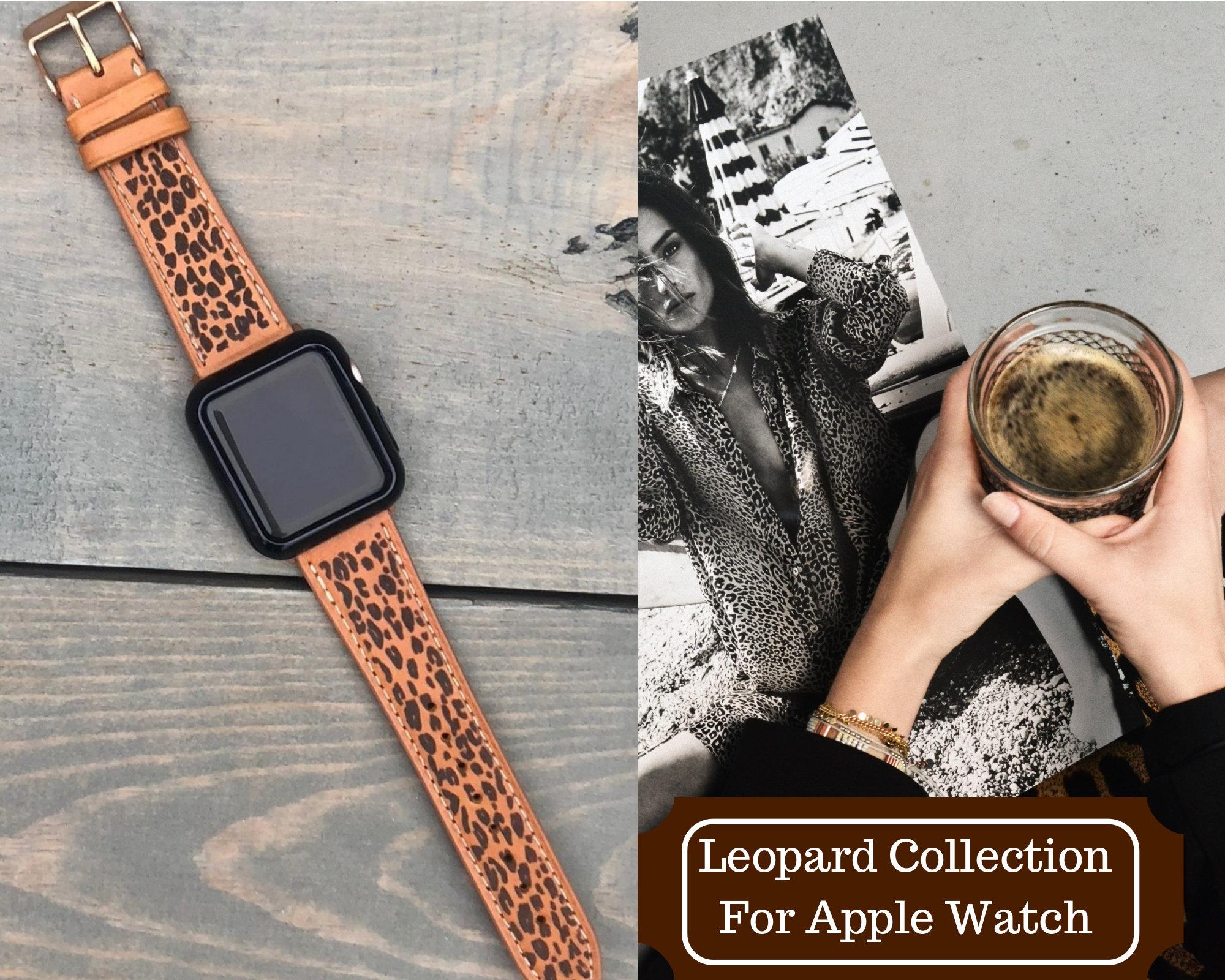 apple watch band women 38mm leopard print apple watch band