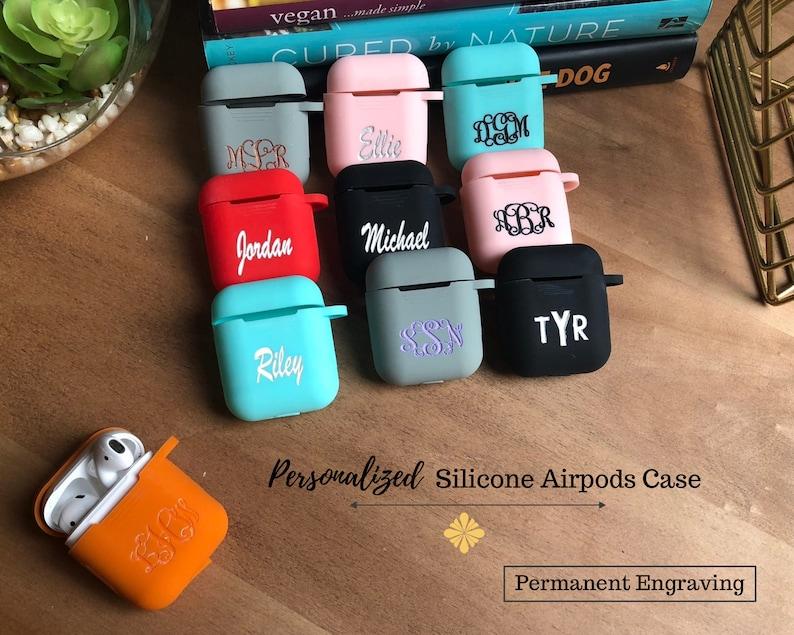 Personalized AirPod Case Keychain MonogramAirPod Case image 0