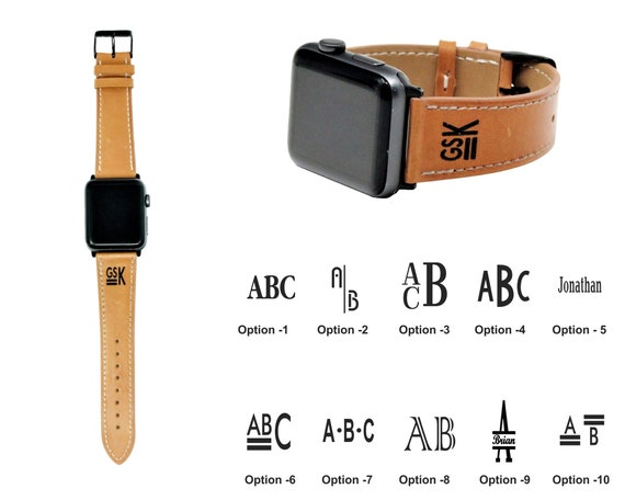 Personalized Apple Watch Band 42mm Men Monogram Apple Watch Etsy