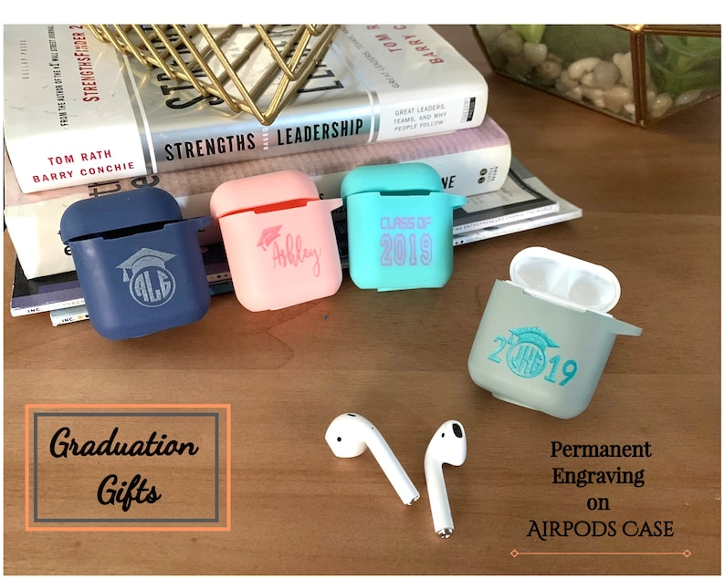 Personalized Graduation Present Personalized Airpod Case Keychain Monogram Airpod Case Silicone Airpods Cover Airpods Holder