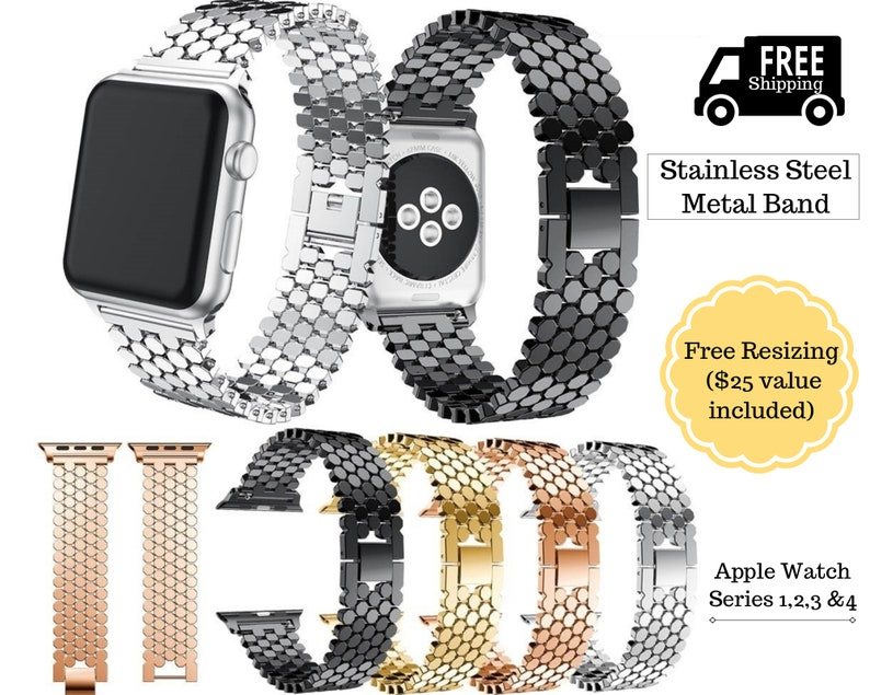 Stainless Steel Iwatch Strap 44mm 42mm 40mm For Apple Watch Band Series 4 3 2 Jewelry & Watches
