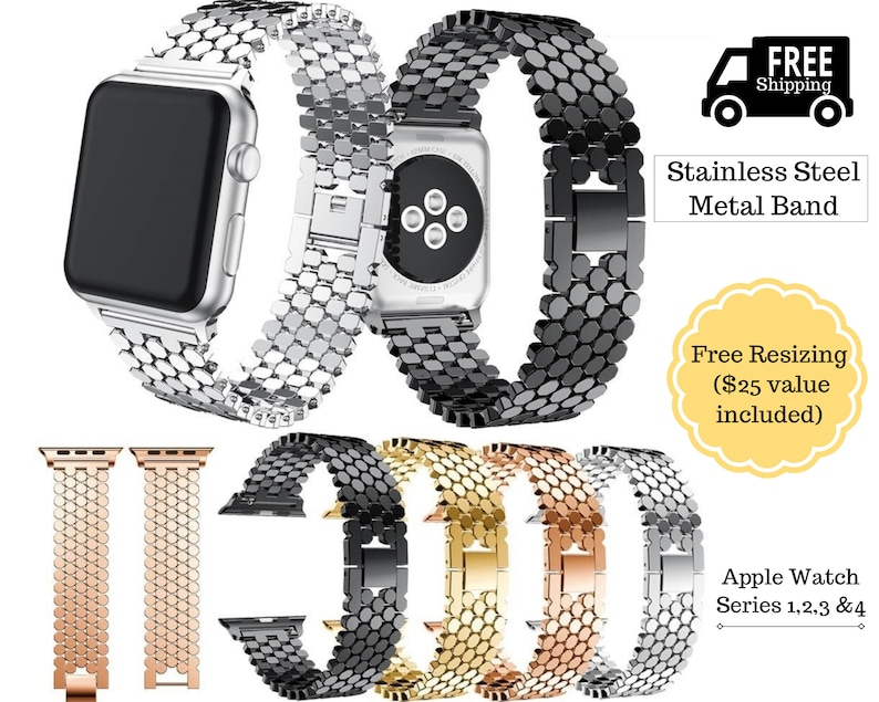 Watches, Parts & Accessories Stainless Steel Iwatch Strap 44mm 42mm 40mm Jewelry & Watches For Apple Watch Band Series 4 3 2