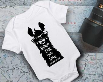 Llama Onesie/ Baby Onesie/ Funny Baby Onesie/ Baby Shower Gift/ Baby Bodysuit/ Llama Tell You Outfit/ New Baby Outfit/ Bodysuit/ Baby Onesie