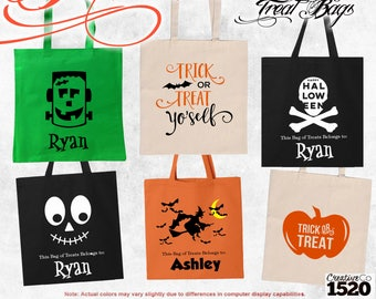 Personalized Halloween Bag   Trick or Treat Bag   Monogrammed Halloween Bag   Halloween Treat Bag   Halloween Tote   Candy Bag   Halloween