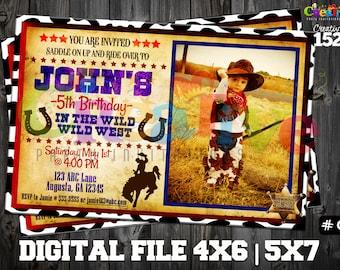 Cowboy Invitation | Cowboy Party Invitation | Custom Party Invitation | Cowboy Party Printable | Cowboy Party | Printable Invitation