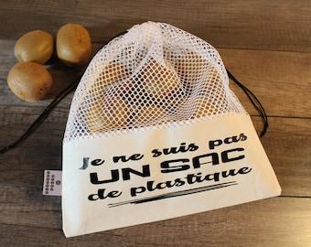 Bag reusable produce - not a plastic bag - Not plastic bag