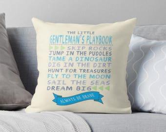 The Little Gentleman's Playbook Pillow
