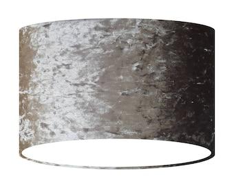 Drum lamp shade etsy grey velvet lamp shade handmade fabric lampshade 20 30 40 cm large small light shade drum shade gift for her home decor aloadofball Images
