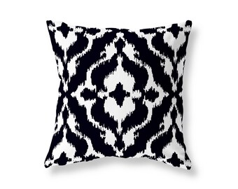Ikat Cushion Cover, Throw Pillow, Cotton Twill, 40cm (16'') x 40cm (16''), Multiple Colours Ikat, Concealed Zip