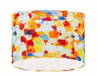 Lamp Shade Handmade Prestigious Raindrops Fresco Fabric Ceiling Lampshade Table Lamp Lighting Funky 20/30/40 Home Decor
