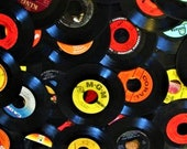 Lot of 50 45rpm Vinyl Records 7 quot Juke Box 45 rpm Discs 45s Variety for JukeBox, Resale, or even Crafting or PICK YOUR OWN Era or Genre
