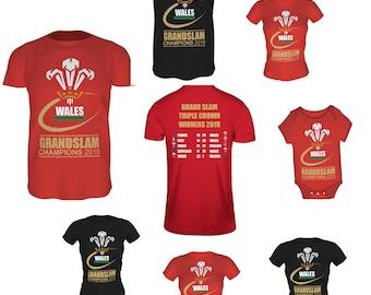 6874cda4476f Wales Grand Slam 2019 T SHIRT (