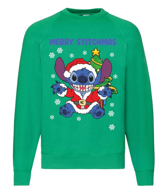 664b4a197 Stitch Christmas Sweater Unisex and Kids
