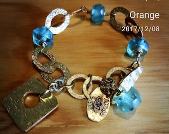 Contemporary Boho Charm Bracelet Gold Plated
