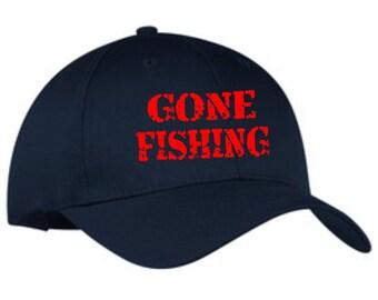 f9c9b97835d Gone fishing baseball cap
