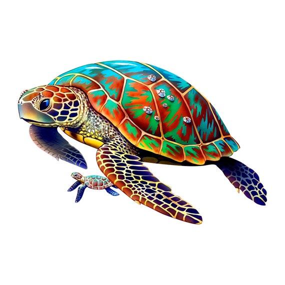 Laptop Mug 5 Sea Turtle Mandala Vinyl Decal for Car