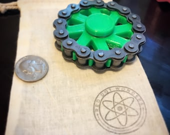 Fidget Spinner Cog and Chain Spinner - EDC Spinner - Fidget Toy - 3D Printed - Motorcycle - 3D Printed Toy - Hand Spinner - EDC - Desk Toy