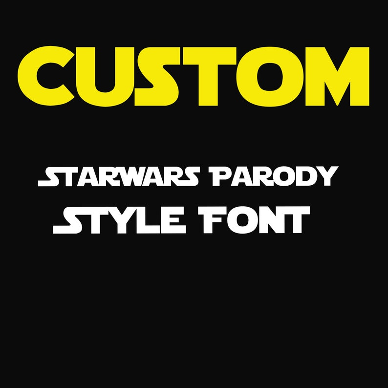 Disney Star Wars Style Parody 2 inch Hot Fix Vinyl Font for Fabric or tee  T-shirts htv DIY Personalized Iron on Custom Word Or Name