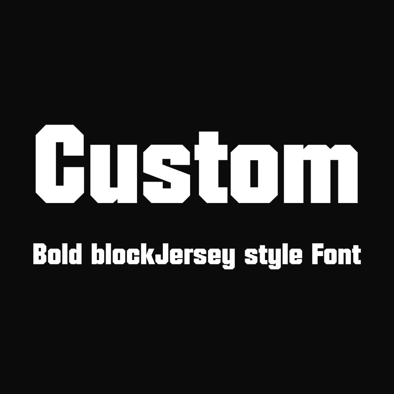 Bold Block Jersey Style 2 inch Hot Fix Vinyl Font for Fabric or tee  T-shirts htv DIY Personalized Iron on Custom Word Or Name