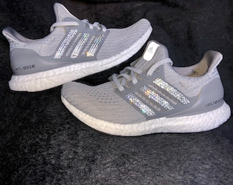 aed5c32c9 crystal Adidas Ultra Boost Bling Shoes with Swarovski Crystals Women s  Running Shoes Gray