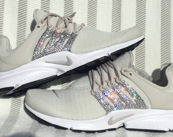 crystal Nike Air Presto Bling Shoes with Swarovski Crystals Women s Running  Shoes Light Bone e2296d31a