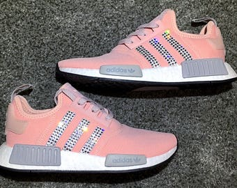 e7da541b7 ... crystal Adidas NMD R1 Bling Shoes with Swarovski Crystals Women s  Running Shoes Light Onix Vapour ...