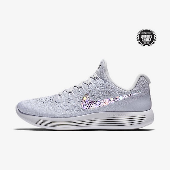 crystal Nike Lunarepic Low Flyknit 2 Bling Shoes with  7e6a6c311ce2