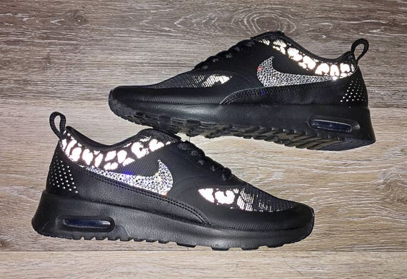 bf39796447d897 crystal Nike Air Max Thea Print Bling Shoes with Swarovski