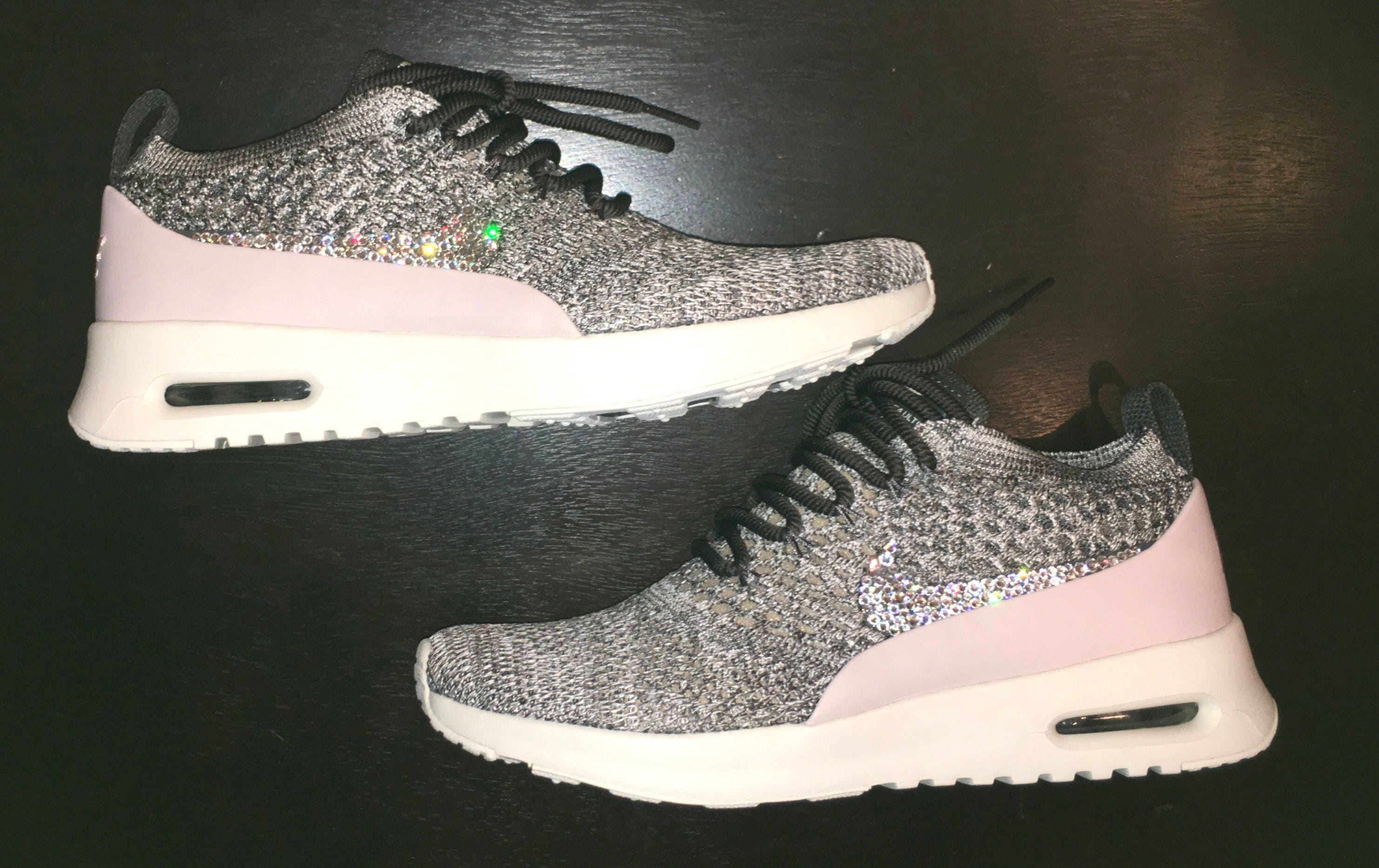 crystal Nike Air Max Thea Flyknit Bling Shoes with Swarovski  6a57288c0