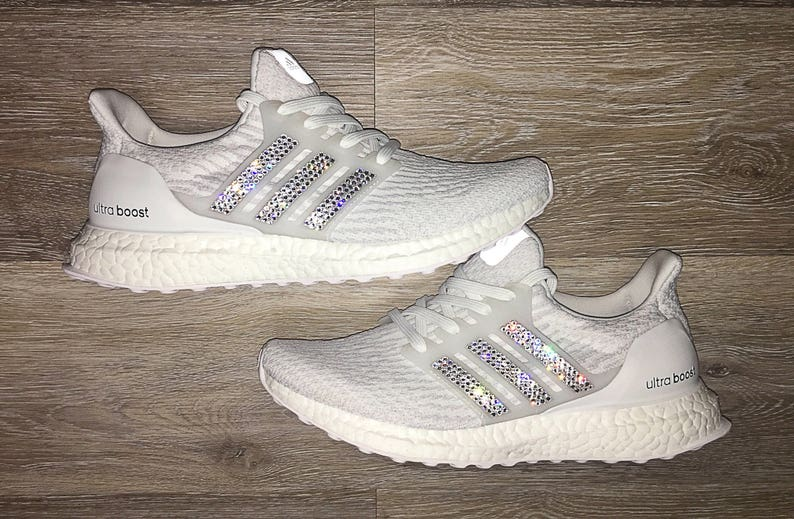 0c5d132d5dcad Crystal Adidas Ultra Boost Bling Shoes with Swarovski Crystals