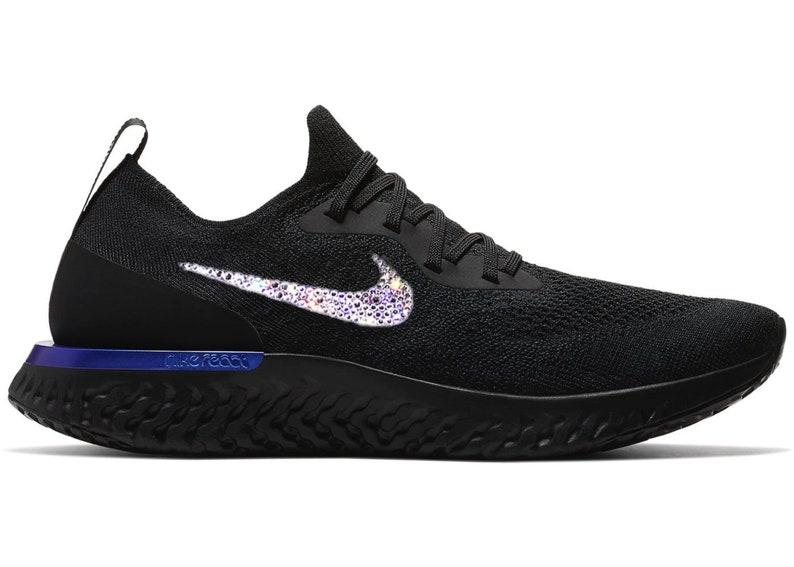 06190e54e1f Crystal Nike Epic reageren Flyknit Bling schoenen met | Etsy