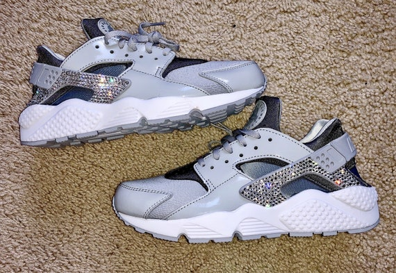 Crystal Bling Nike Air Huarache Shoes with Swarovski Crystals  a0d81ad4fe31