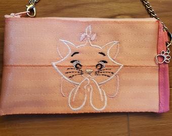 Handmade rose seatbelt webbing  coin purse.