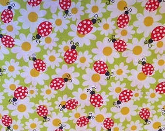 Lady Bugs Daisies Flowers Spring Insects Bugs Gardening  BTY