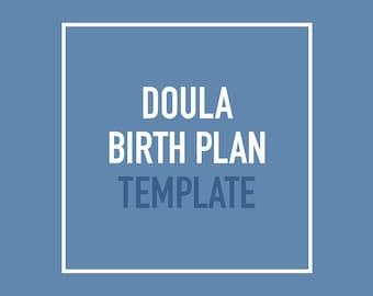 Doula visual birth plan template