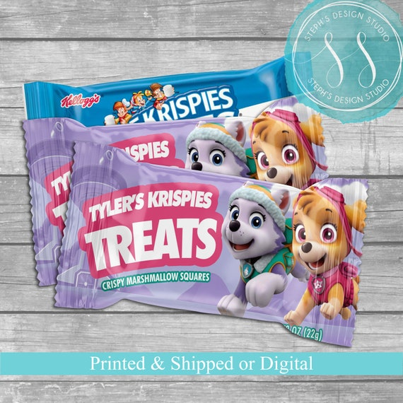 Paw Patrol Rice Krispies Treats Wrappers Birthday Party Favors