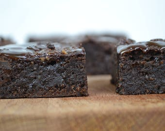Vegan and gluten-free brownies with just natural sugars