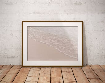 Minimalist Ocean Art Print - Ocean Waves Poster Art - Digital Coastal Print - Beach Wall Art - Modern Wall Decor - Seascape Art - Ocean Art