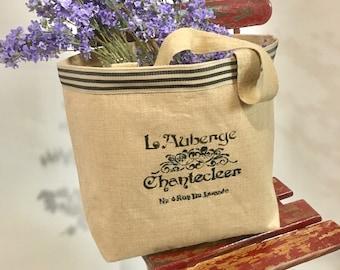 Jute stenciled bag