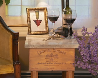 French Wine crate table