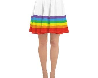 a52949cdba Rainbow Skater Skirt, Pride Skirt, Costume Skirt, Rainbow Circle Skirt,  Retro Circle Skirt, Pinup Skirt, LGBTQ Skirt, Costume Dress, Ladies