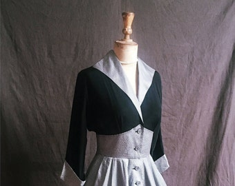 1950s 'Betty Draper' full circle 1950s pinstripe dress