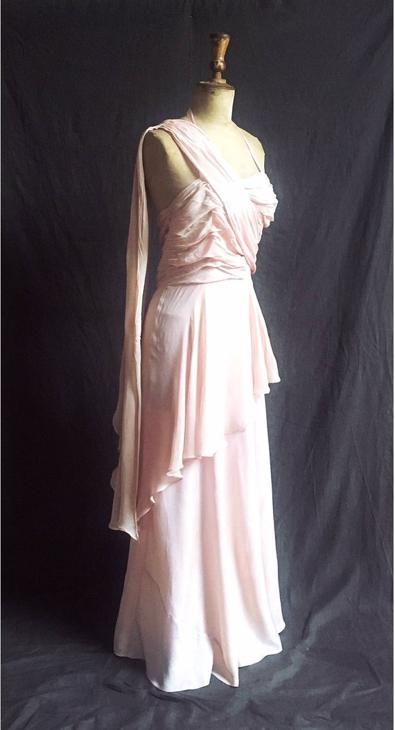 1950s Aphrodite dress in ballet slipper pink layer