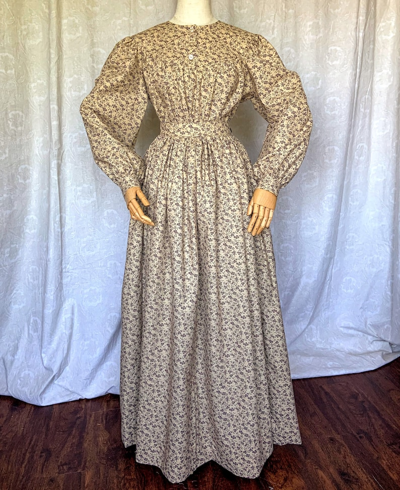 Victorian Clothing, Costumes & 1800s Fashion Pioneer Blouse and Skirt Set made to Measurements in Cotton Prints or Homespun $118.00 AT vintagedancer.com