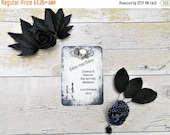 Personalised Gothic Save the date cards, Skull save the dates