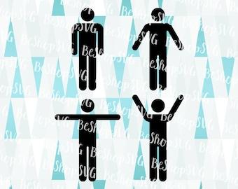 Stick figure SVG, Men icon SVG, Men figure Svg, Human stick SVG, Human Icon Svg, Instant download, Eps - Dxf - Png - Svg
