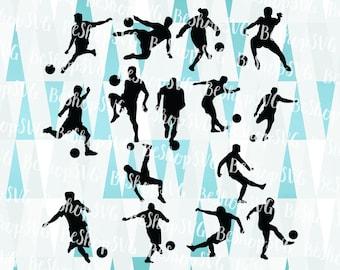 Soccer players SVG, Soccer SVG, Football SVG, Goal Svg, Soccer Team Svg, Instant download, Sport Svg, Eps - Dxf - Png - Svg