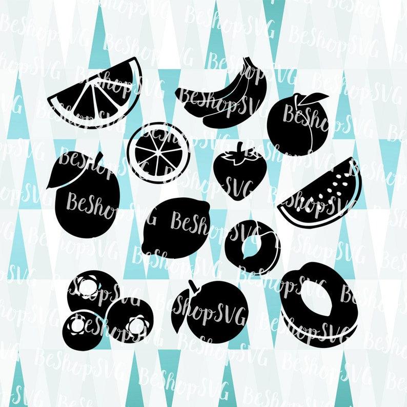 Fruits SVG Fruits bundle SVG Strawberry SVG Berries SvG image 1